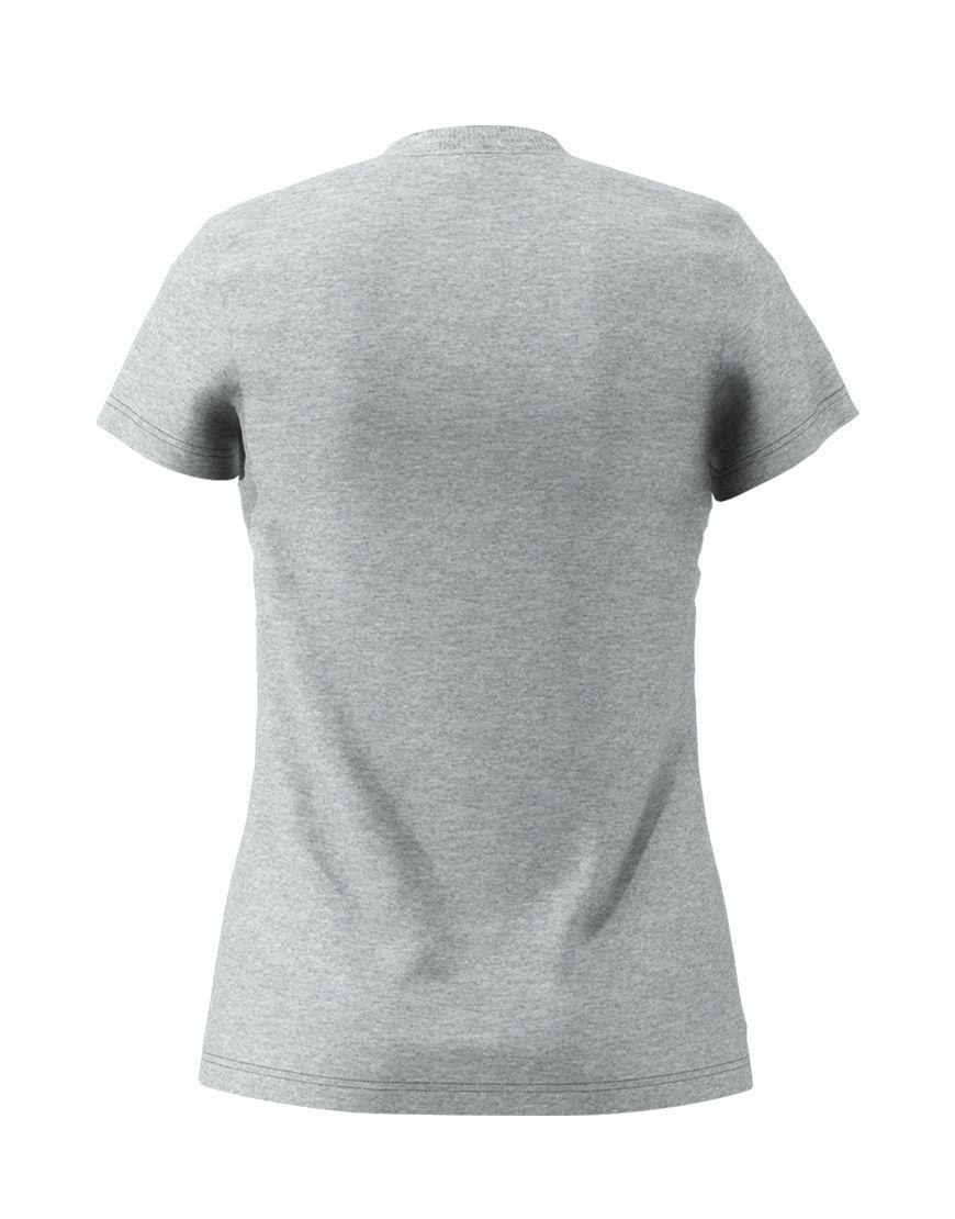 poly cotton womens 3d t shirt grey back