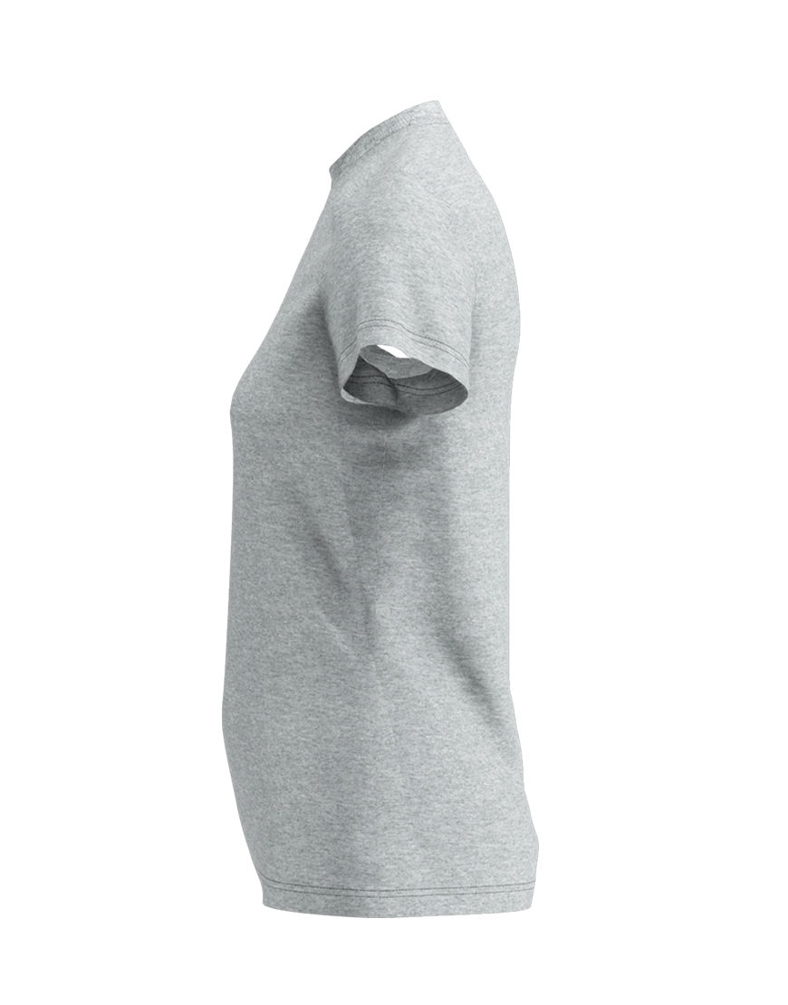 poly cotton womens 3d t shirt grey left