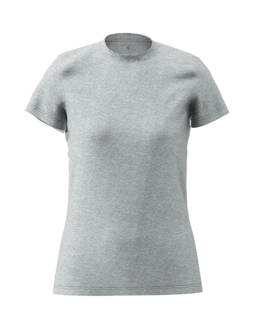 poly cotton womens 3d t shirt grey