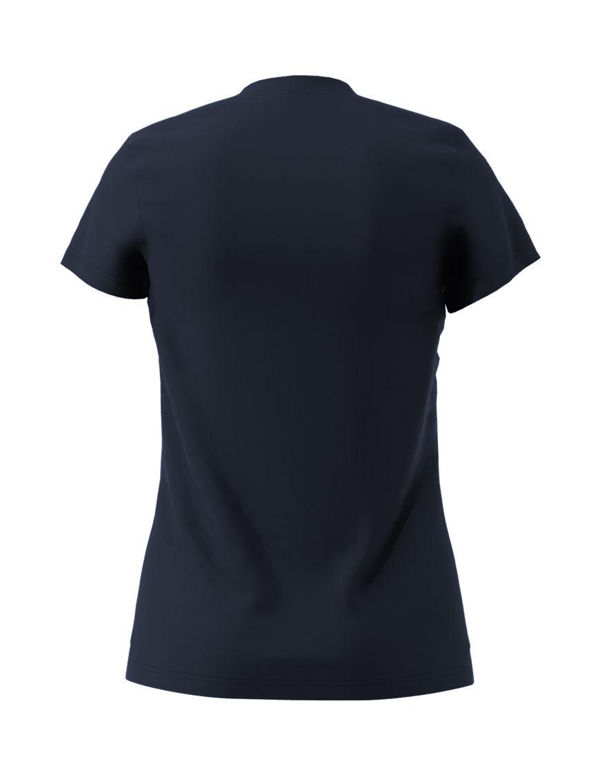 poly cotton womens 3d t shirt navy back