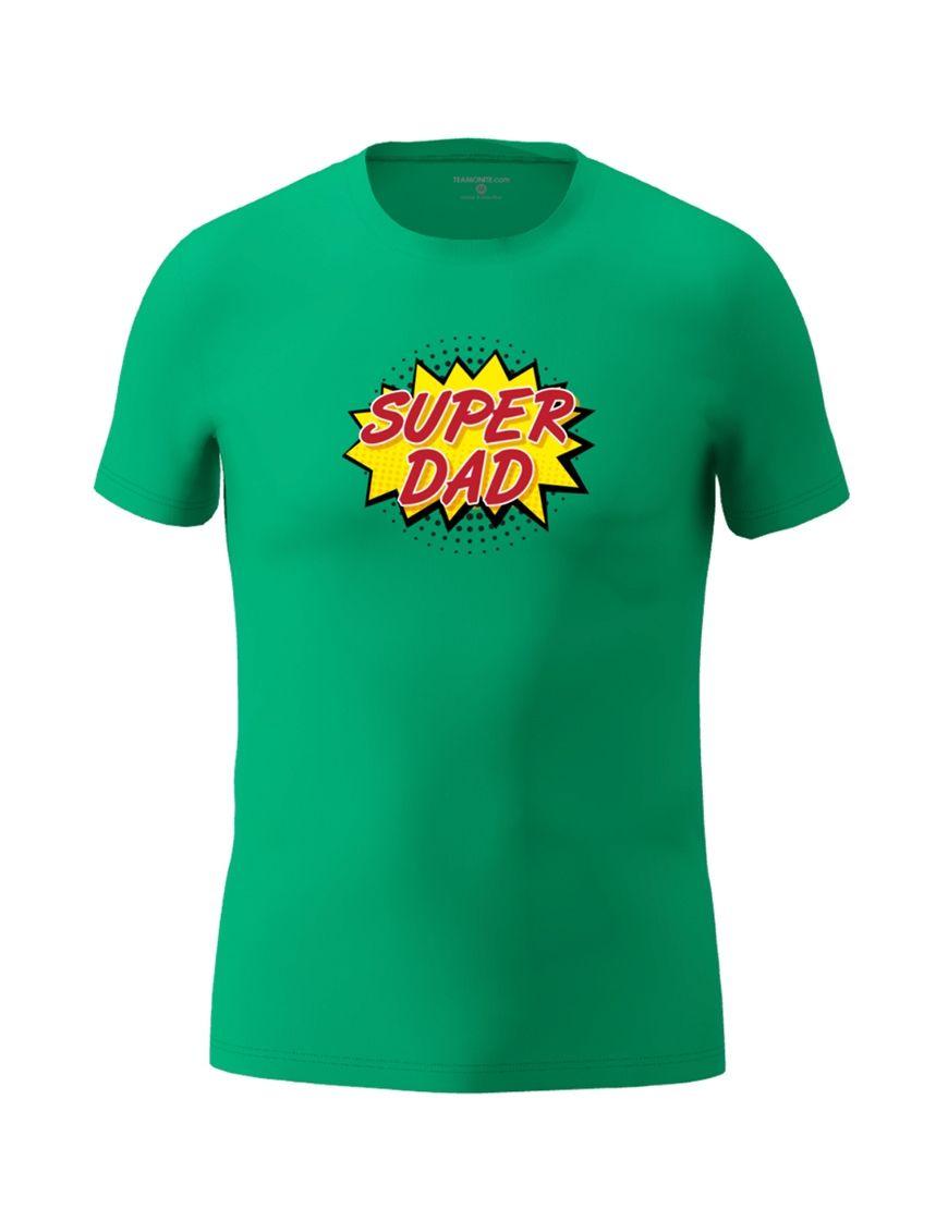 super dad t shirt emerald green