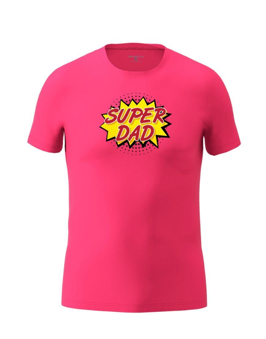 super dad t shirt fuschia