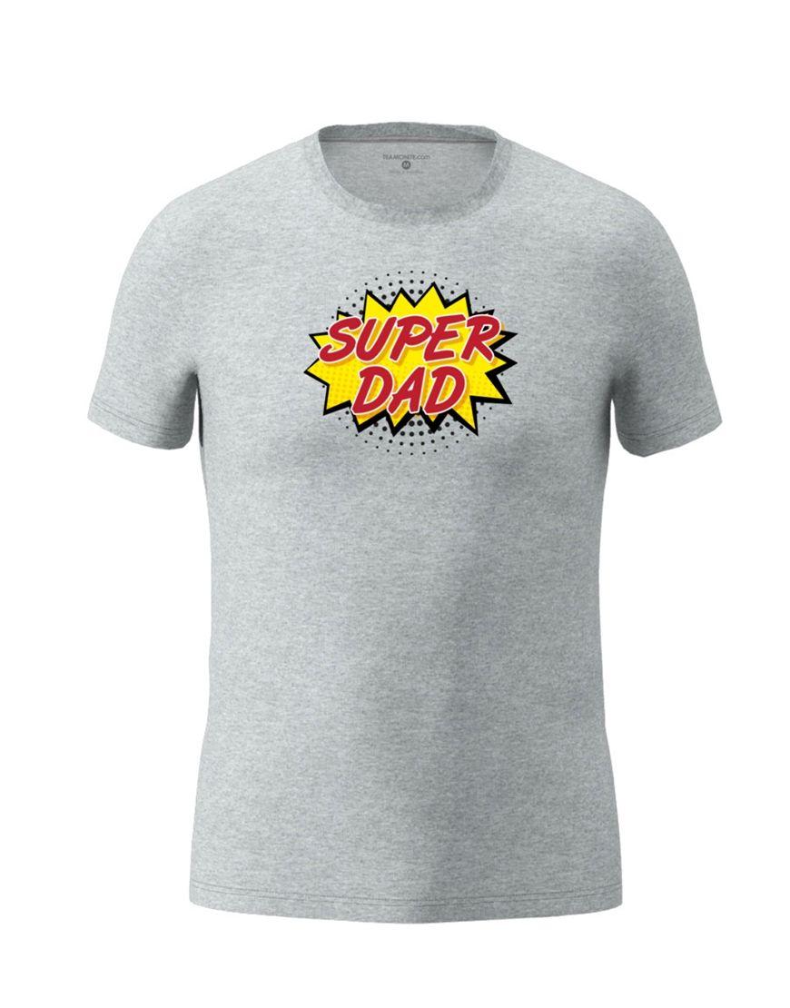 super dad t shirt grey