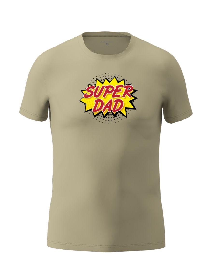 super dad t shirt light khaki