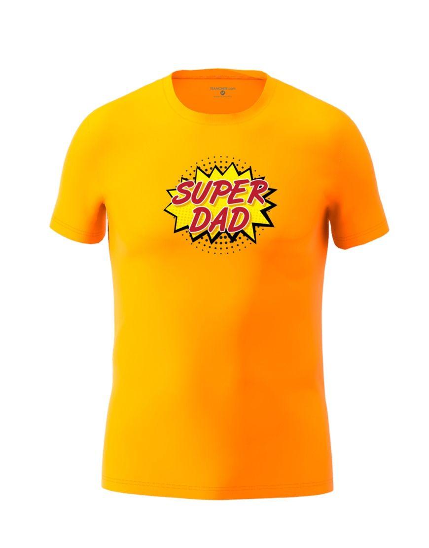 super dad t shirt orange
