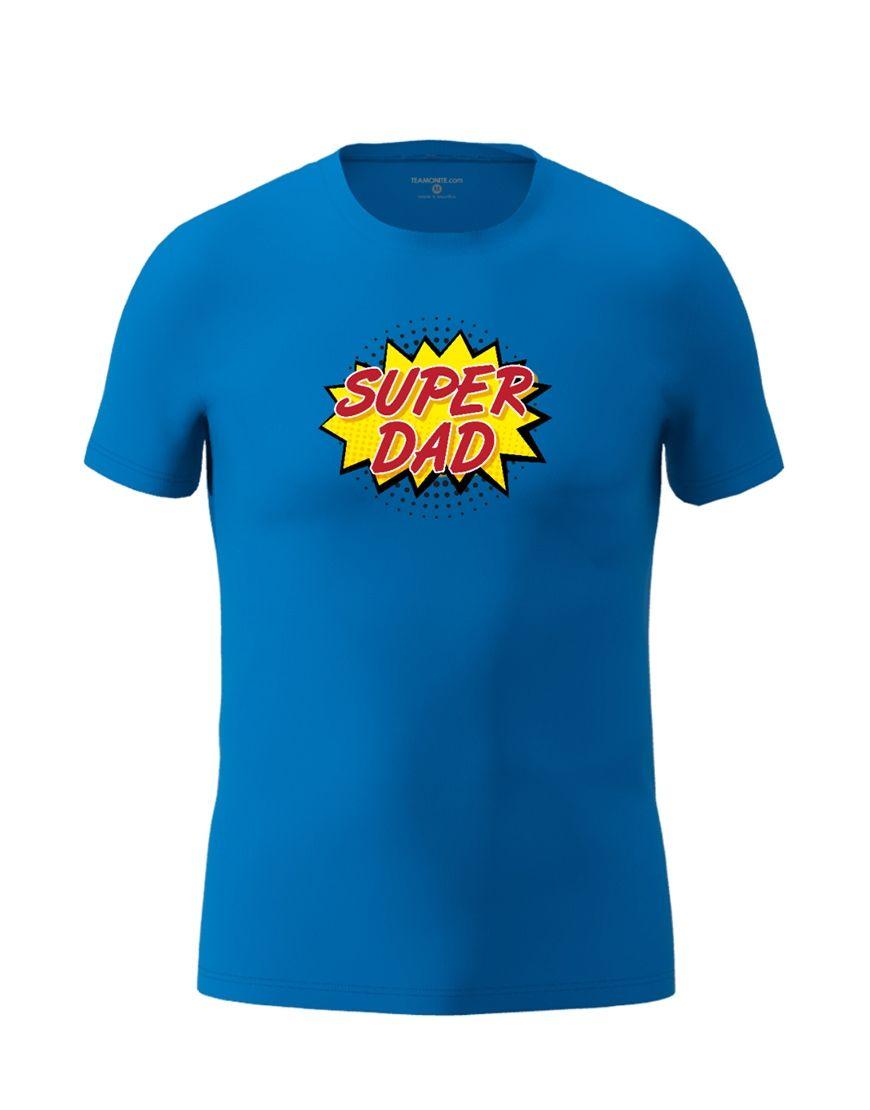 super dad t shirt royal blue