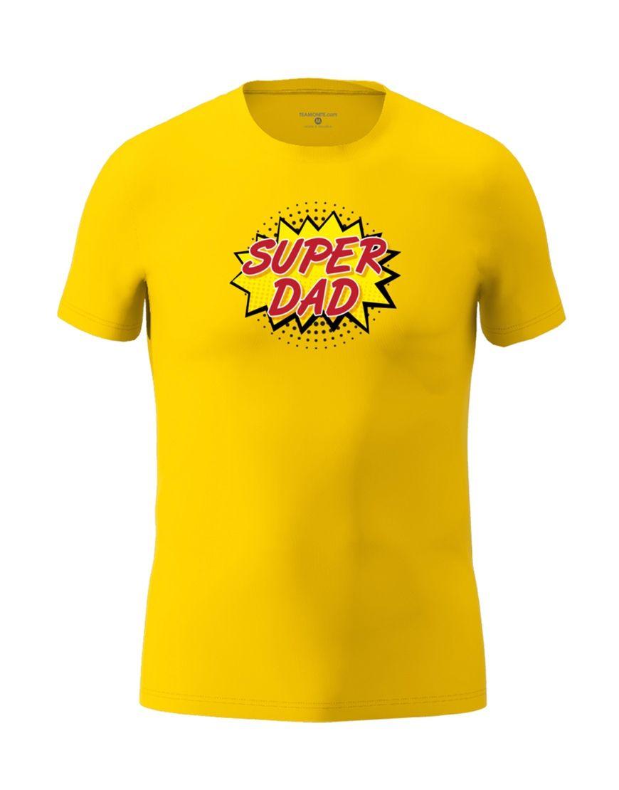 super dad t shirt yellow