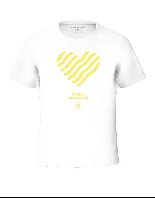 Tisert Zenes Yellow - White Tween's T-Shirt