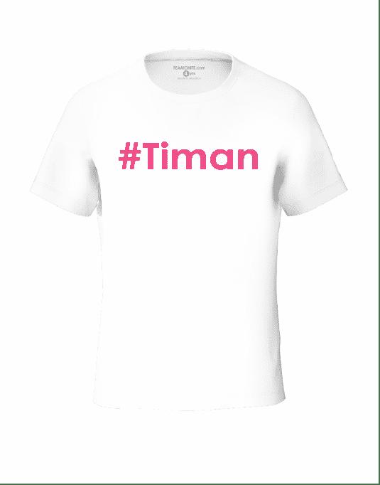 Tweens pink Timan white t-shirt