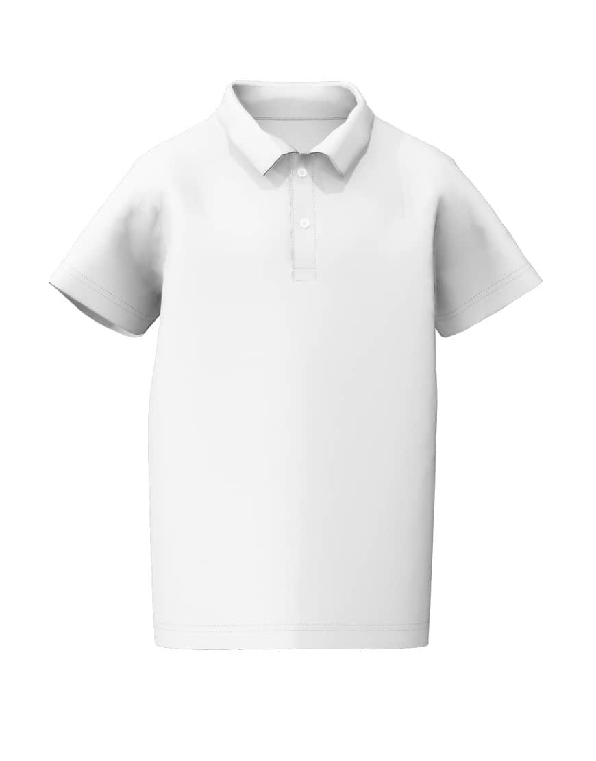 tweens white 3d polo