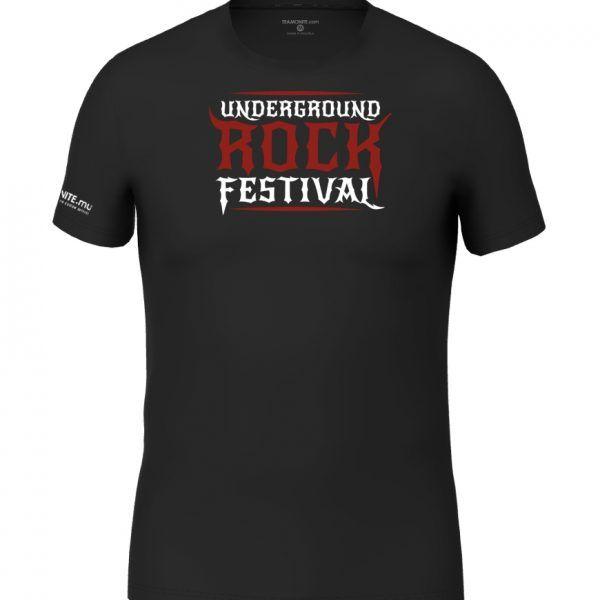 Underground Rock Festival black t-shirt