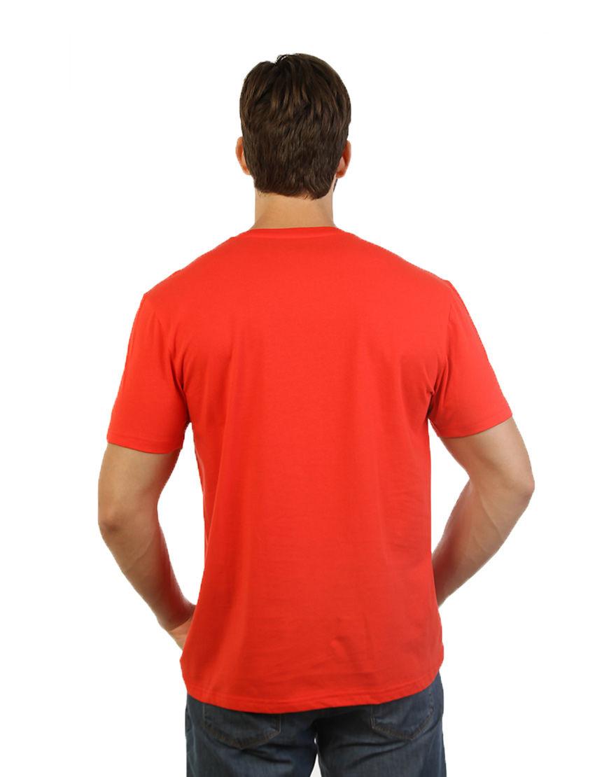unisex classic t shirt red men back