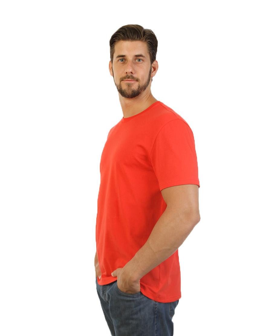 unisex classic t shirt red men side