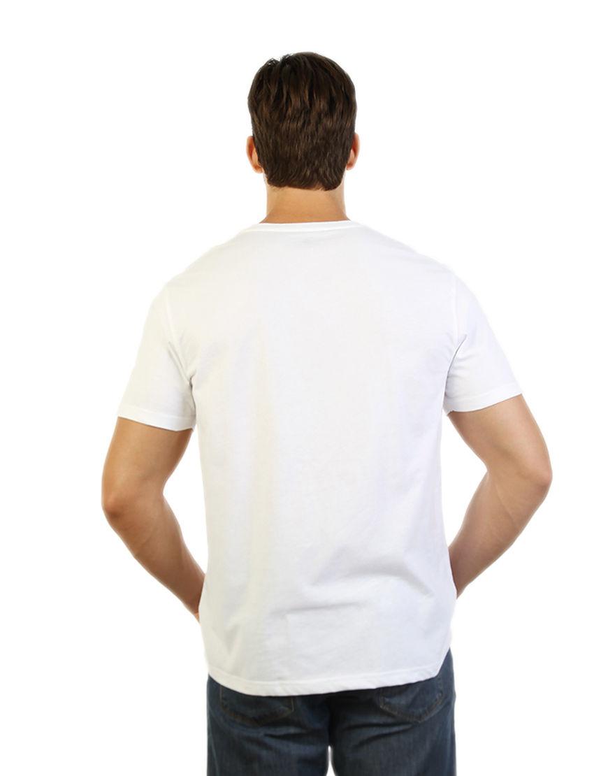 unisex classic t shirt white men back