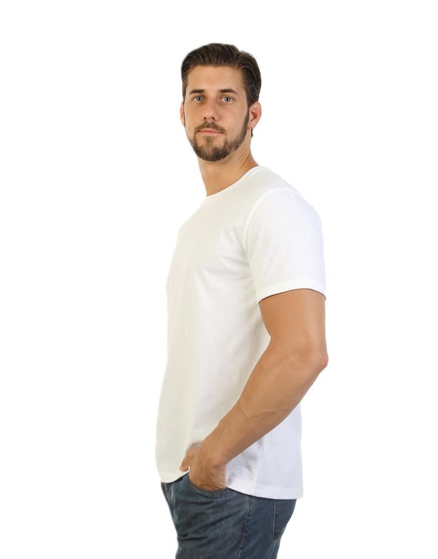 unisex classic t shirt white men side