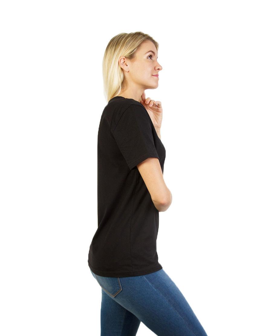 unisex classic t shirt women black side