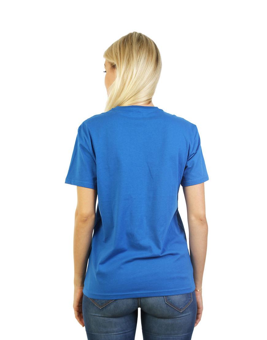 unisex classic t shirt women blue back