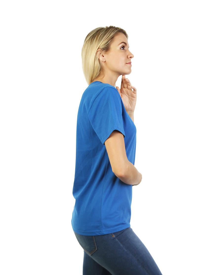unisex classic t shirt women blue side