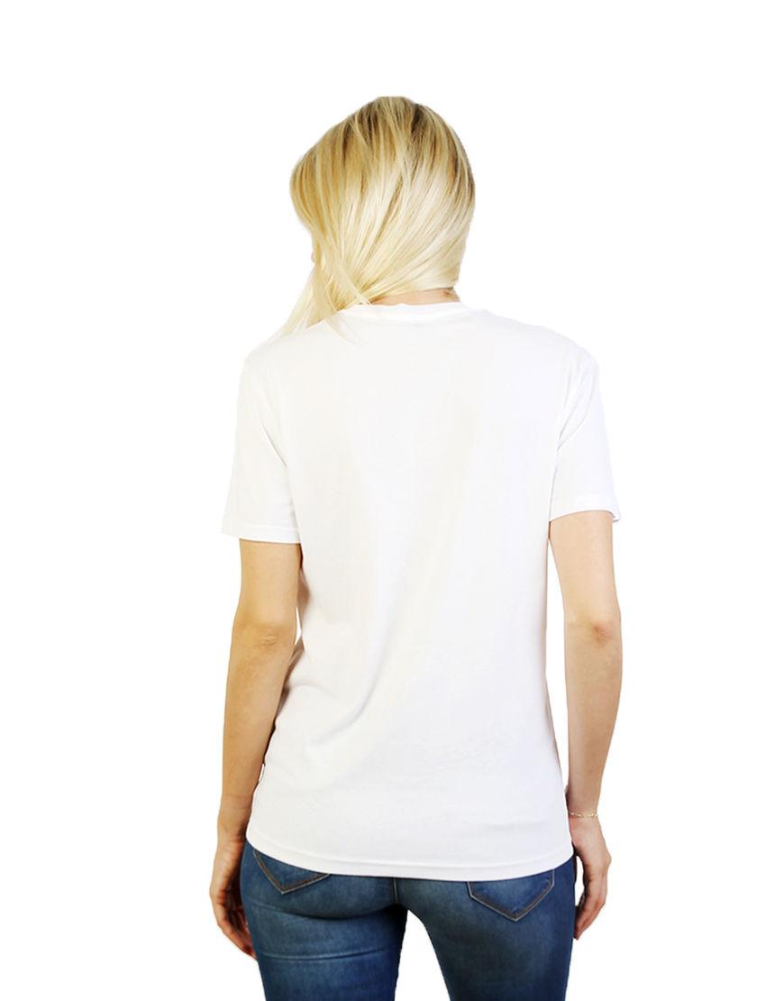 unisex classic t shirt women white back