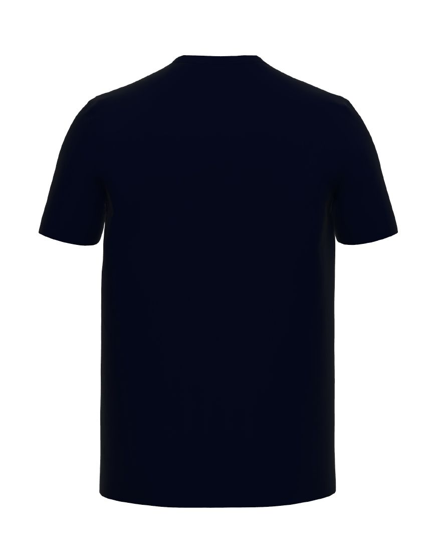 unisex cotton t shirt 3d navy back