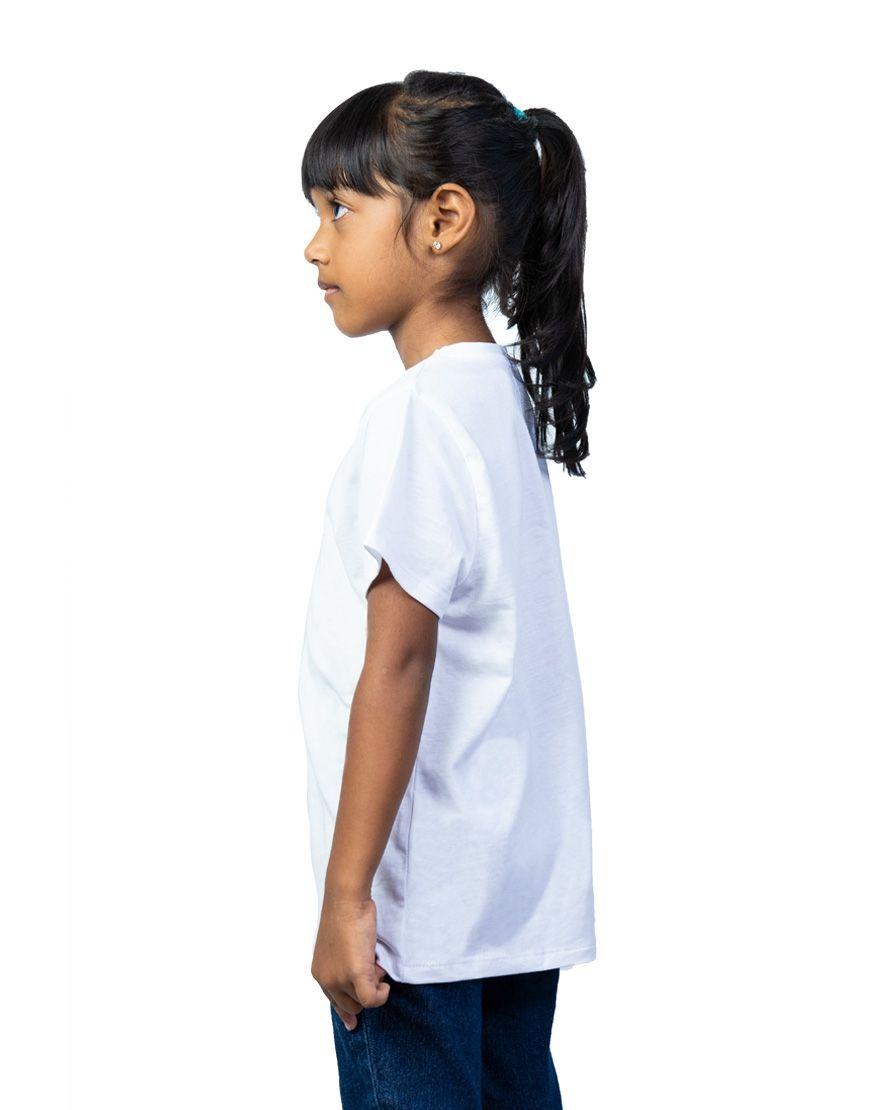unisex kids t shirt girl side