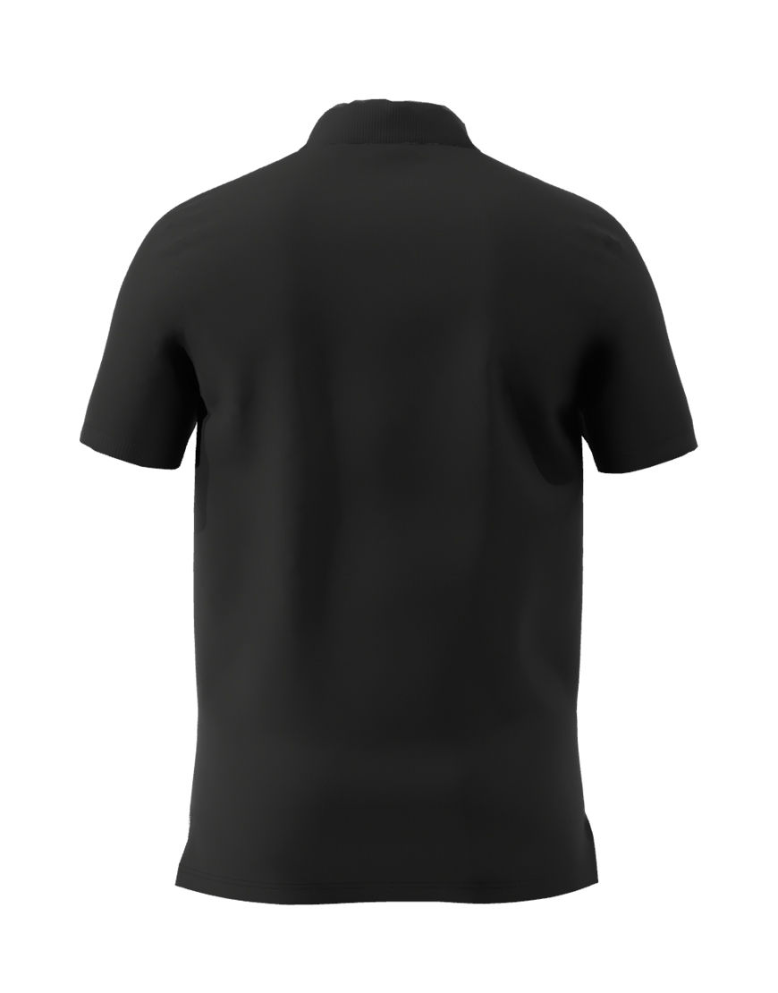 unisex polo with zipper 3d black back
