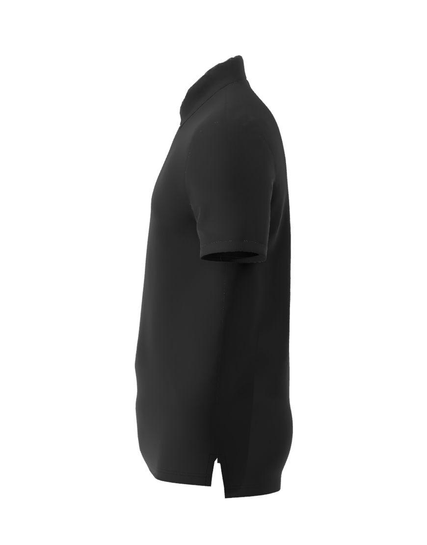 unisex polo with zipper 3d black left