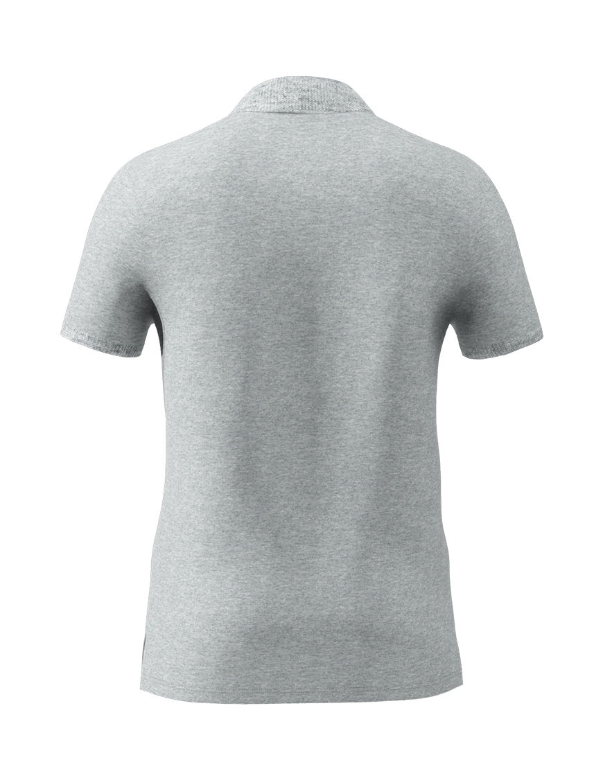 unisex polo with zipper 3d grey back