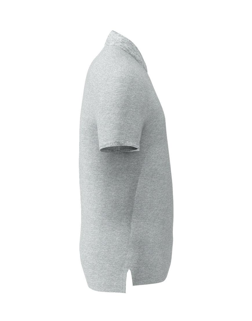 unisex polo with zipper 3d grey left