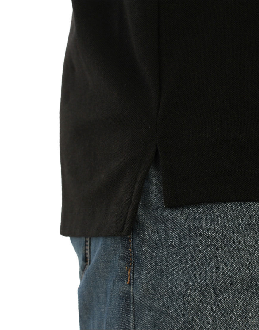 unisex polo with zipper black detail