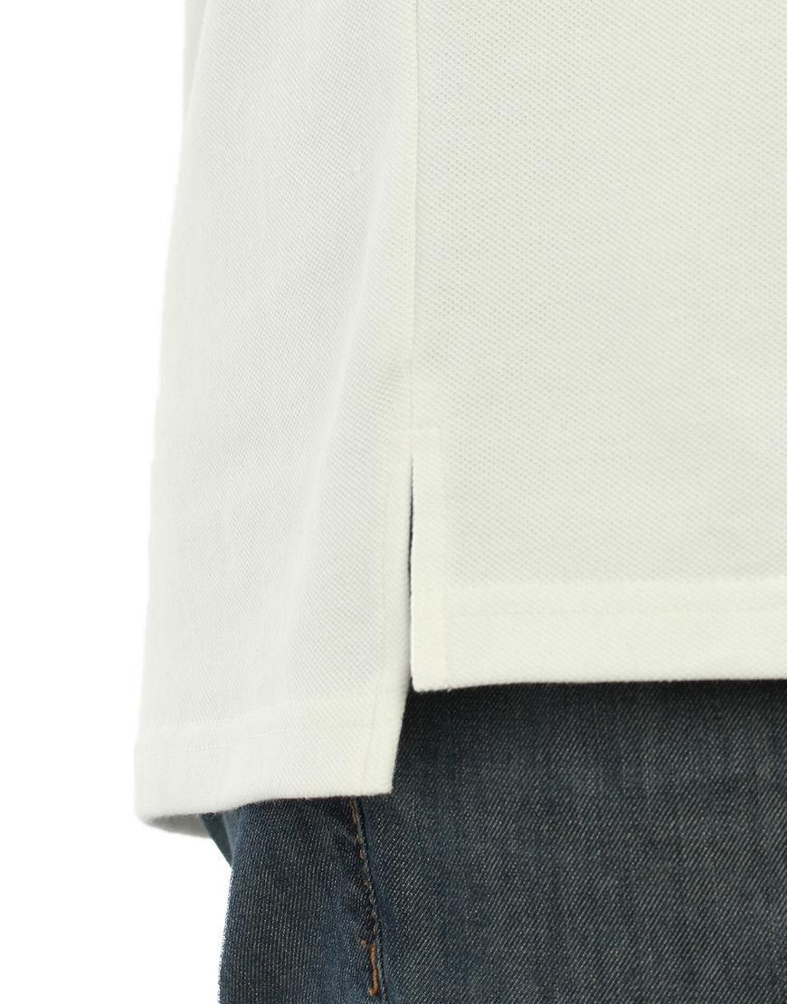 unisex polo with zipper white detail