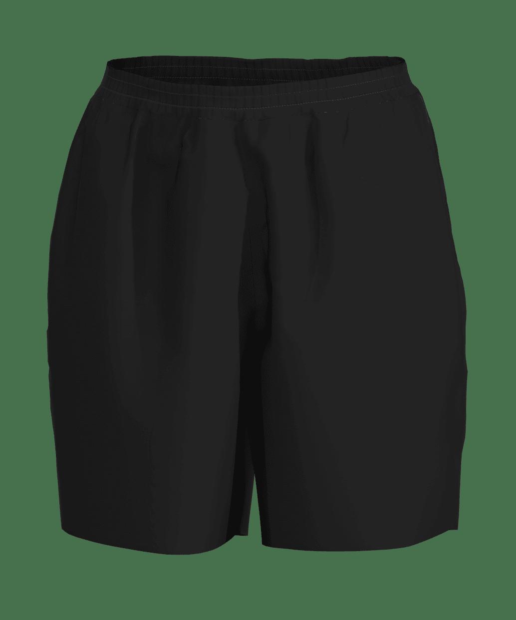 unisex sport shorts men 3d black