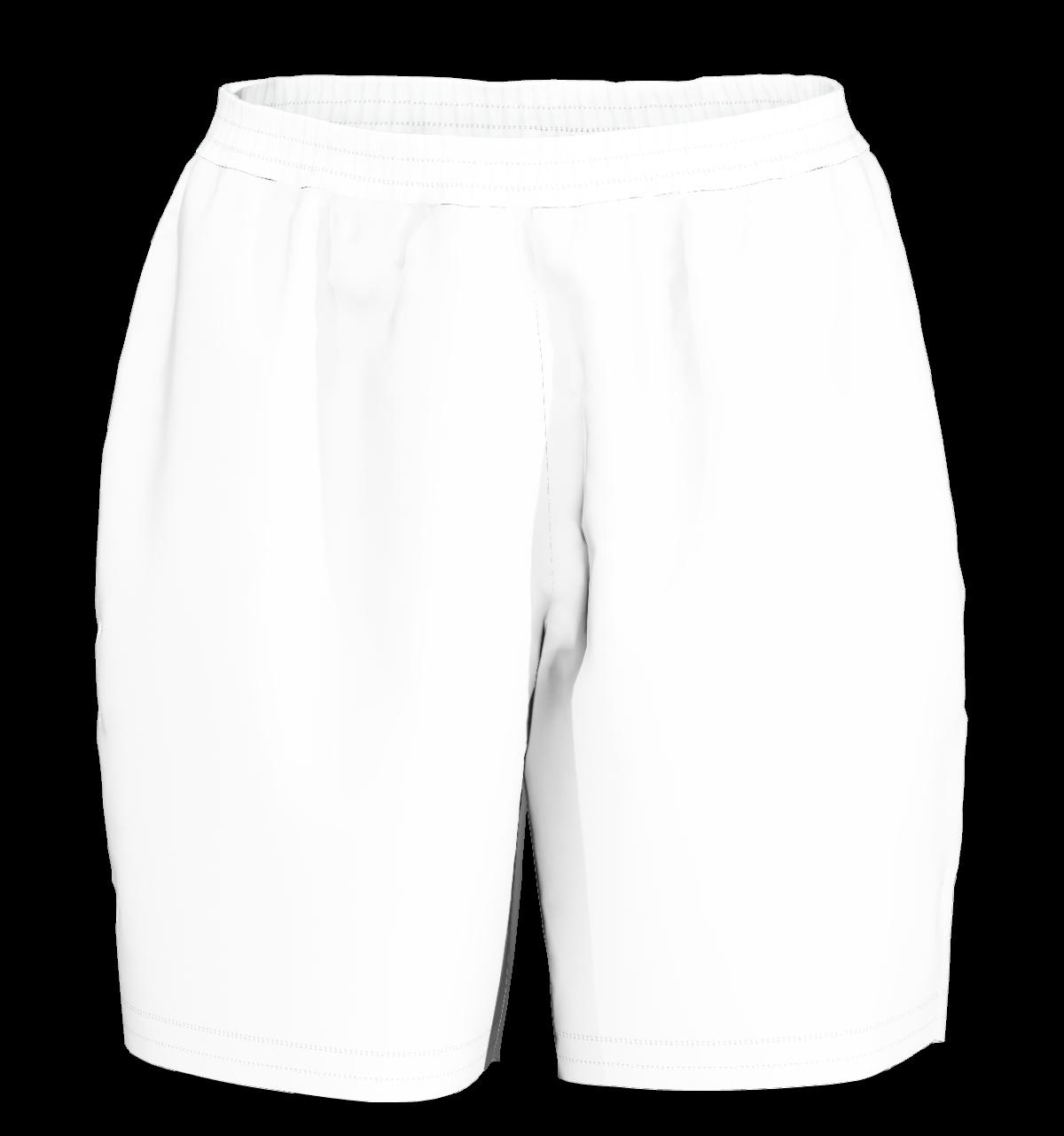 unisex sport shorts men 3d white