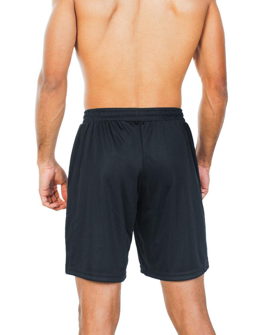 unisex sport shorts men black back