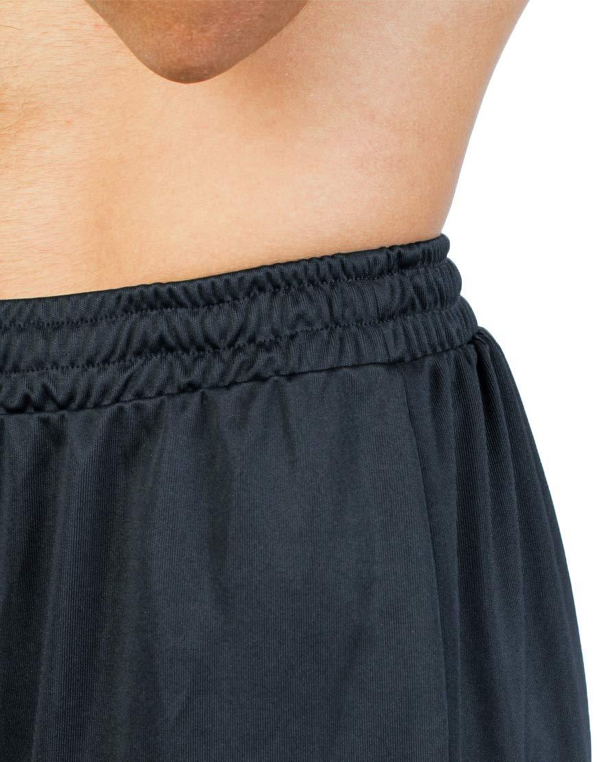 unisex sport shorts men black close up