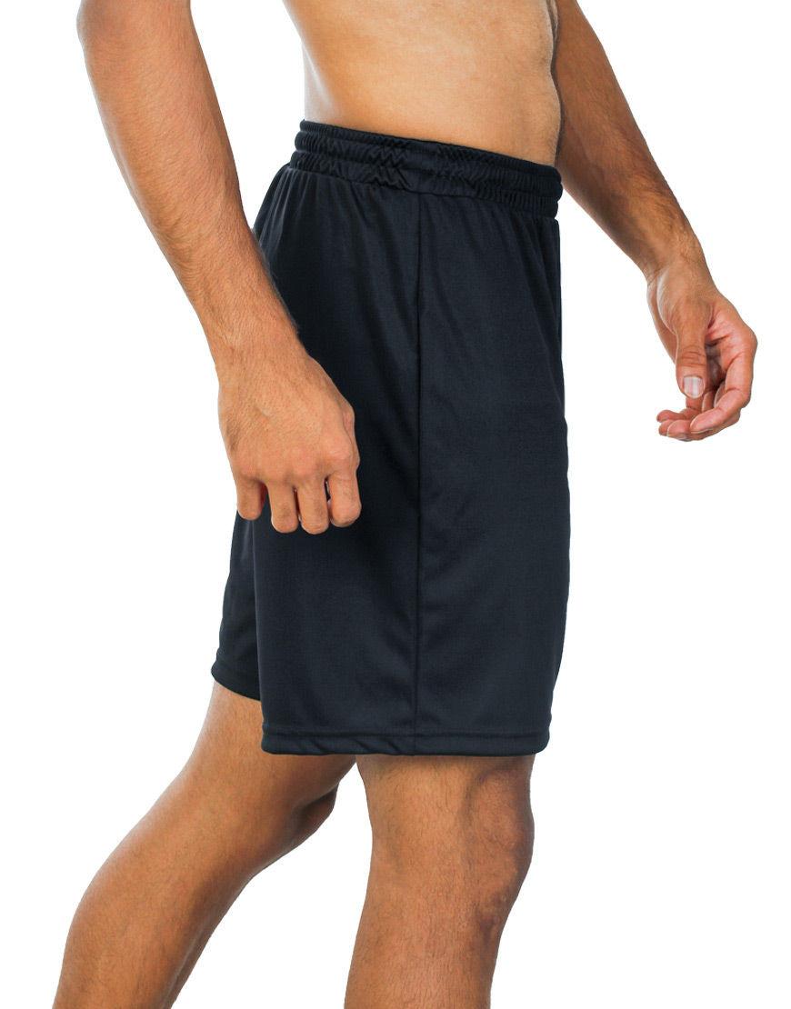 unisex sport shorts men black side