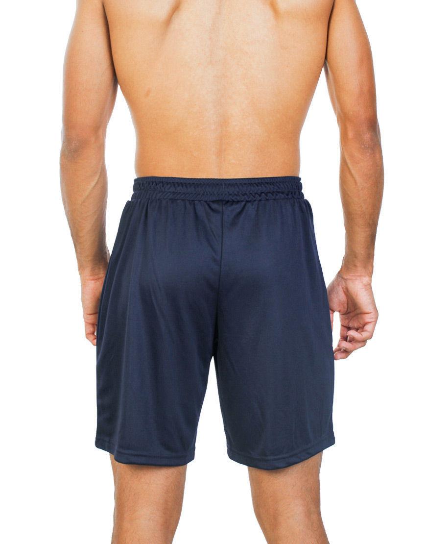 unisex sport shorts men navy back