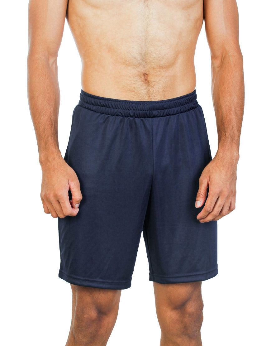 unisex sport shorts men navy front