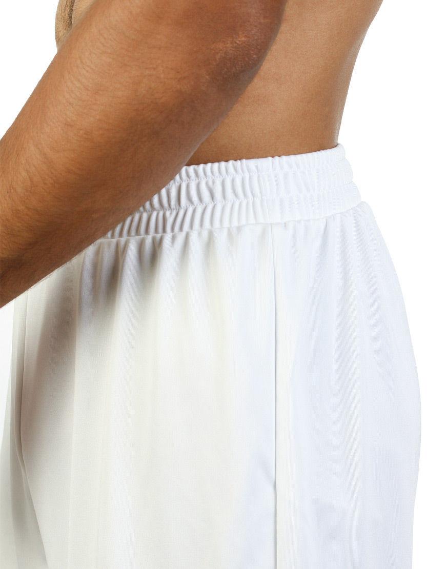 unisex sport shorts men white close up