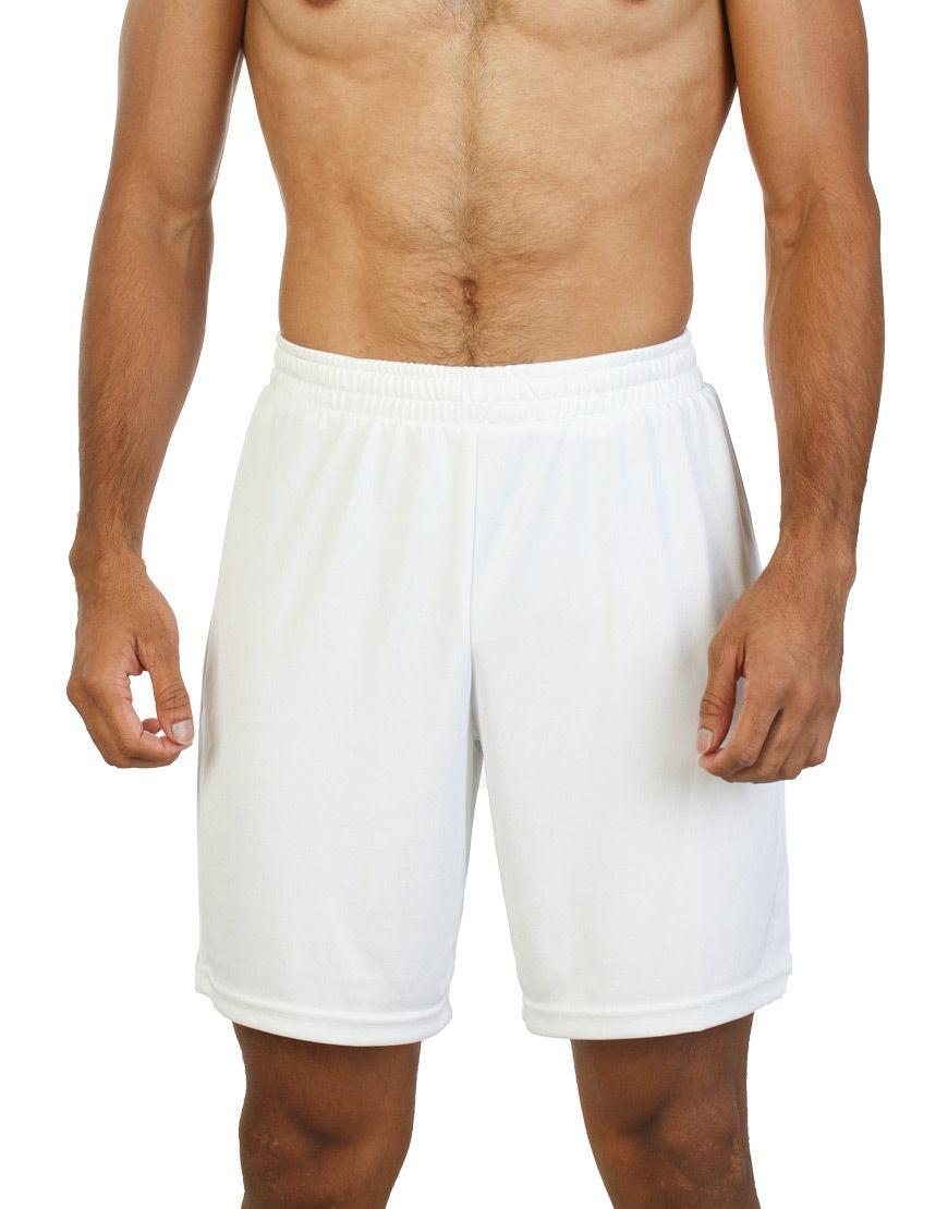 unisex sport shorts men white front