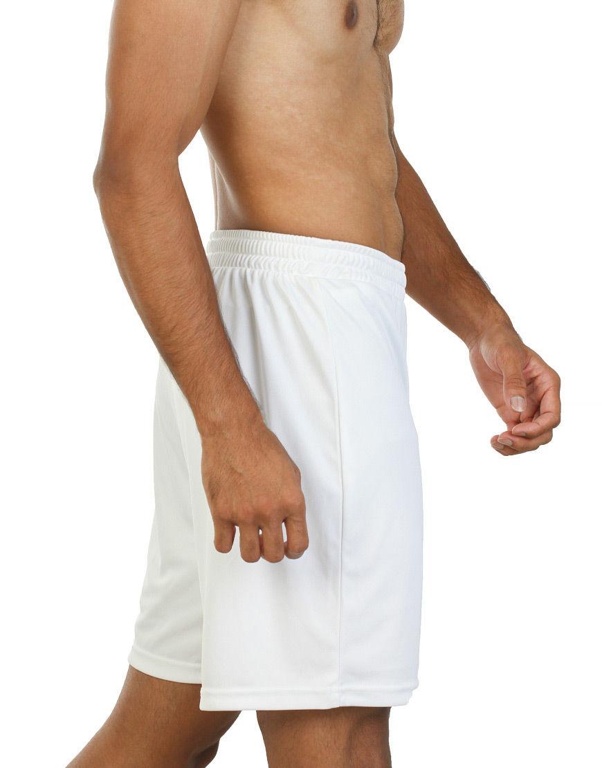 unisex sport shorts men white side