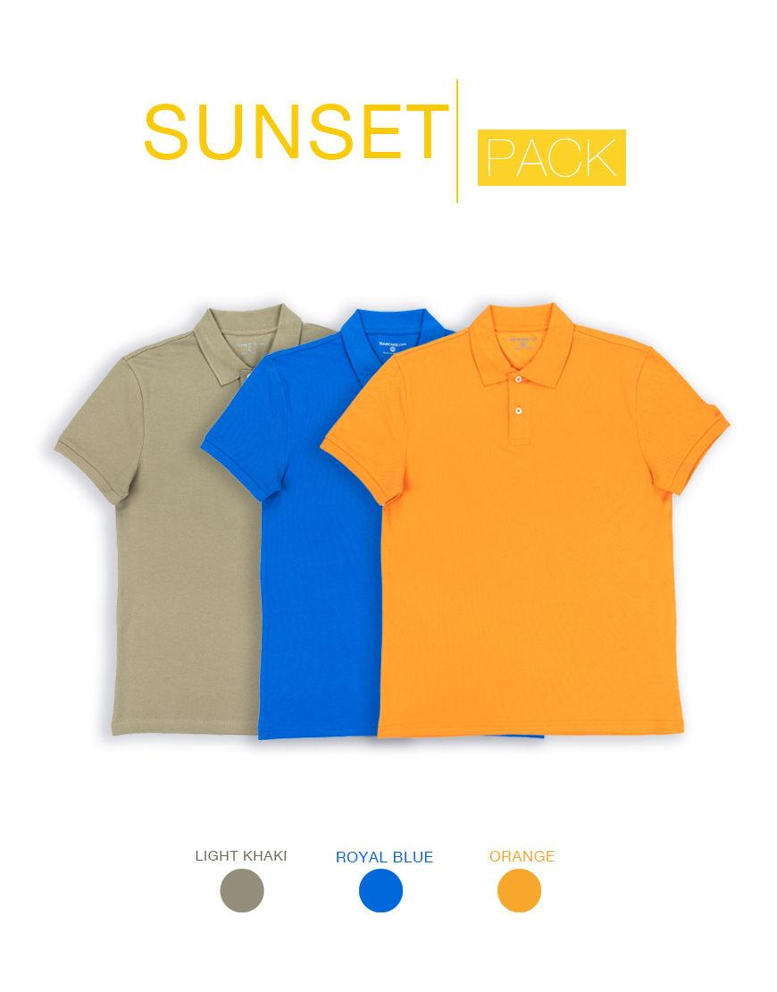 unisex sunset polo pack