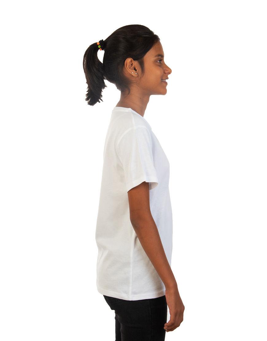 unisex tweens t shirt girl side