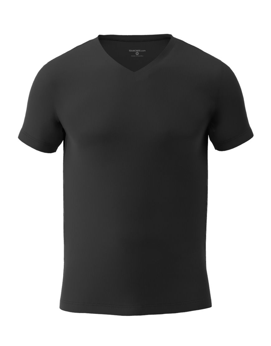 v neck men 3d t shirt black