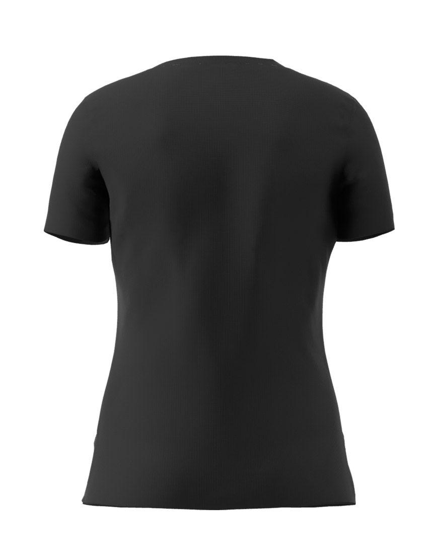 v neck women 3d t shirt black back