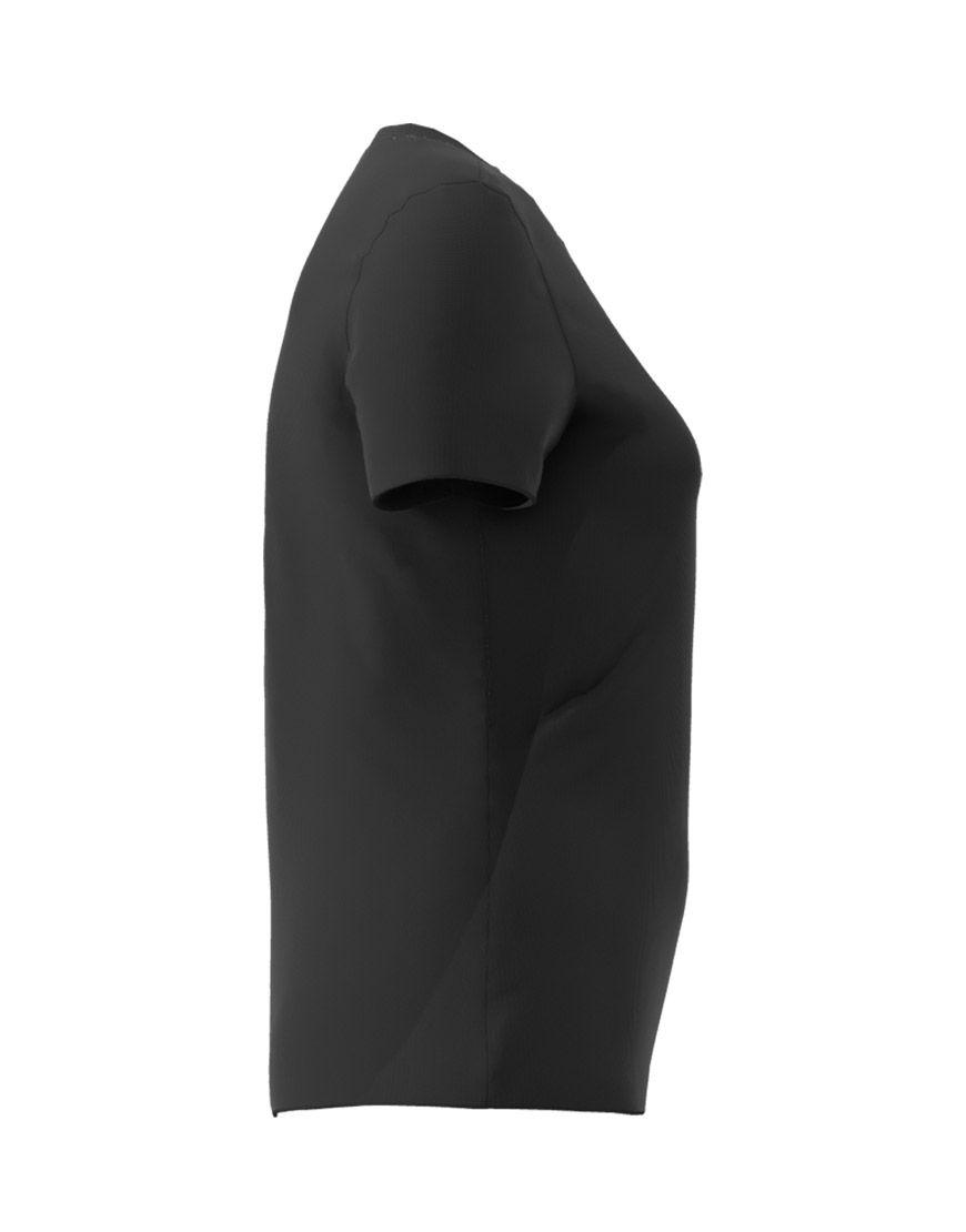 v neck women 3d t shirt black right