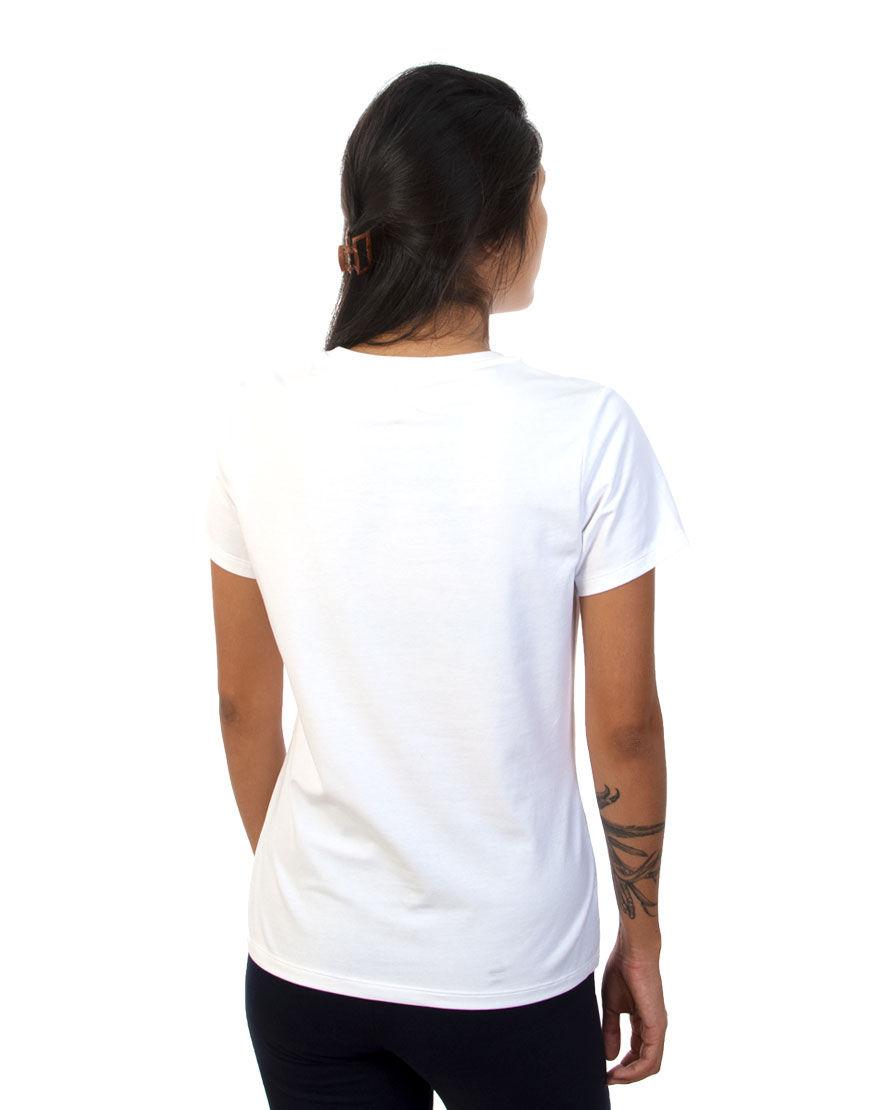 v neck women t shirt white back
