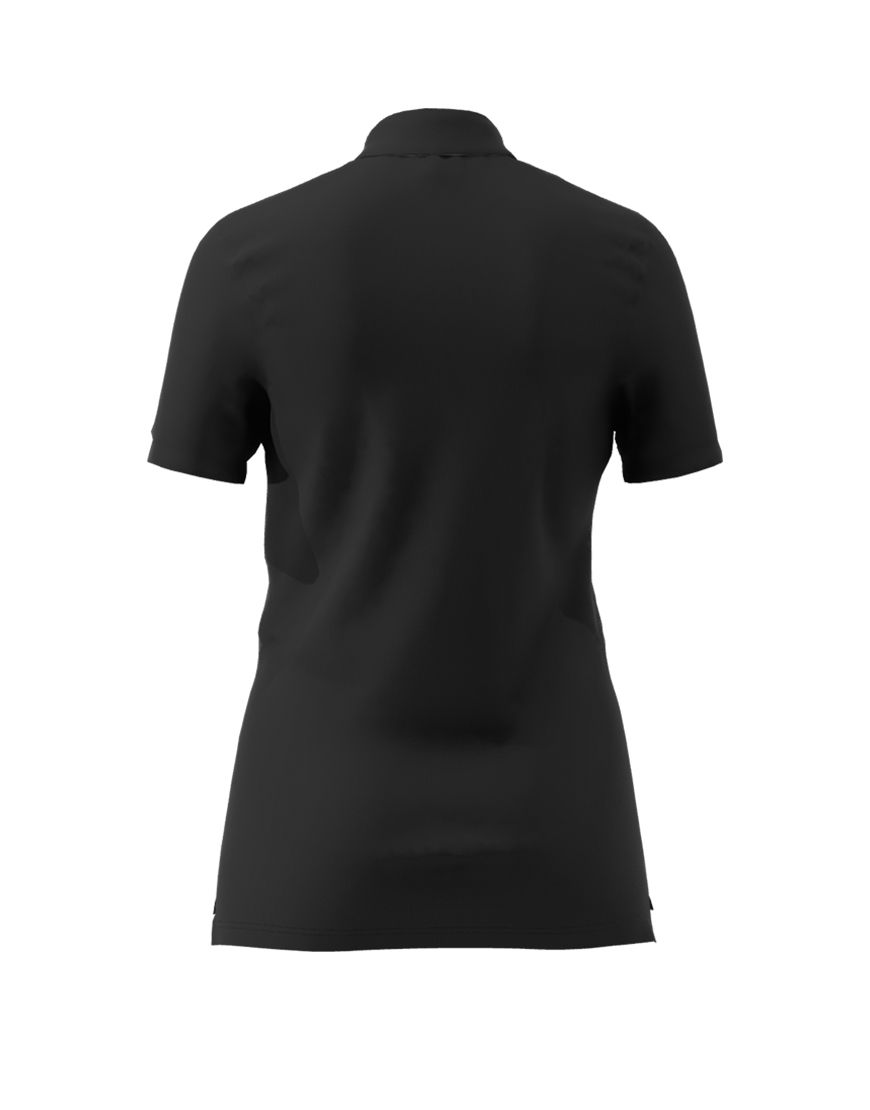 women polo with zipper 3d black back