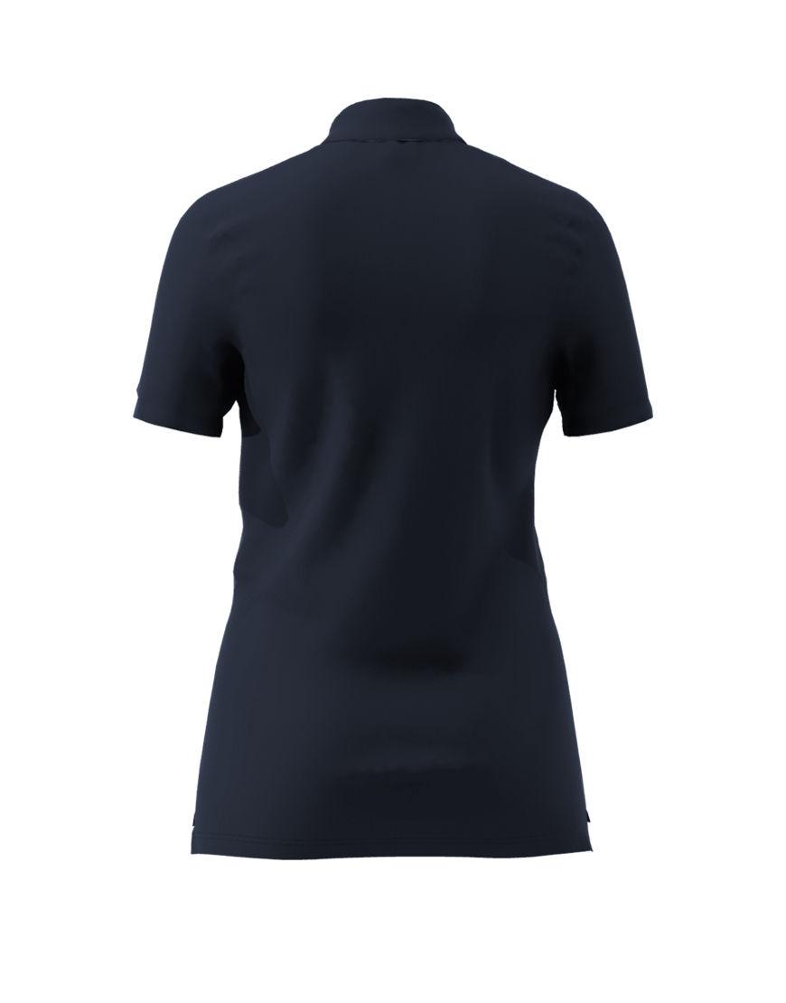 women polo with zipper 3d navy back