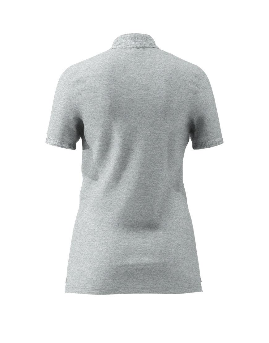 women polo with zipper 3d navy grey back